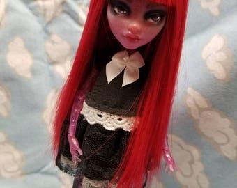 Monster High doll Wig Custom OOAK Repaint