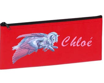 Red Unicorn personalized with name package