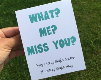 Miss you card deployment card thinking of you long funny i miss you card funny greeting card funny long distance relationship card m4hsunfo