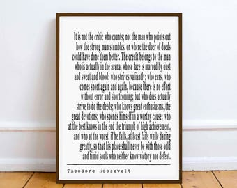 Theodore Roosevelt  quote Speech Inaugural Address - Time to Speak the truth  - Digital Printable Download - printable art print gift