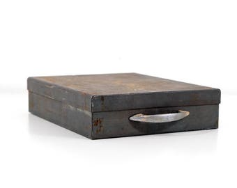 Industrial Metal Box with Handle