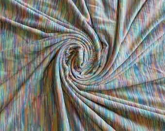 100% Rayon Rainbow yarn dyed  slub by the yard