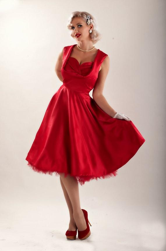 Valentines Dress Red Dress Festive Dress Bridesmaid Dress Prom