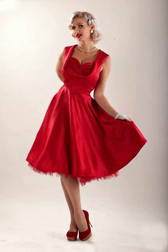 Christmas Dress Red Dress Red Bridesmaid Dress Red Prom Dress