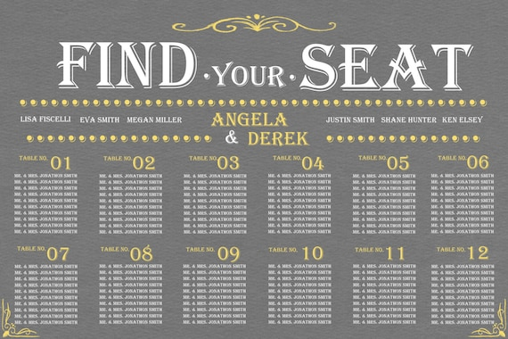 Seating chart for wedding reception idealstalist seating chart for wedding reception solutioingenieria Gallery