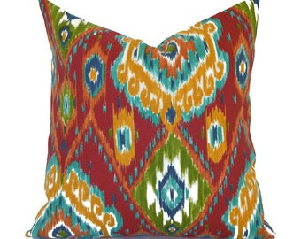 Outdoor Pillows ANY SIZE Outdoor Cushions Outdoor Pillow Covers Decorative Pillows Outdoor Cushion Covers Euro Pillow Losani Red