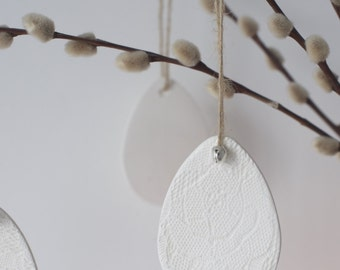 Ceramic Easter Egg Tree Decoration