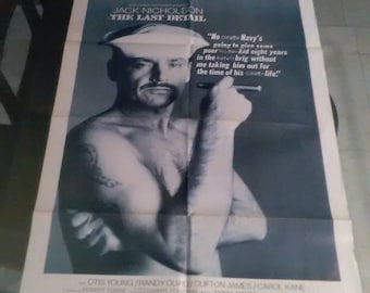 Vintage The Last Detail Movie Poster Original Theater ONE SHEET Rare 72 of 236*****1970's*******