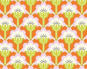 Nicey Jane Slim Pop Blossom in Persimmon by Heather Bailey - 1 Yard