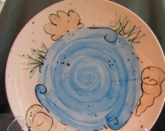 Chesapeake Collection Shell Abstract Platter