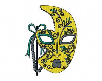 Yellow Masquerade - Mardi Gras Collection #03 Machine Embroidery Design