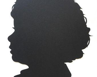 Father's Day Gift - Custom Silhouette Portraits. Custom Family Portrait
