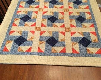 Pinwheel lap quilt or table runner