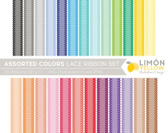 Digital Ribbon Set In Assorted Colors Royalty Free