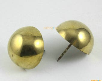 1Pcs 50mm Solid Brass Upholstery Tacks Nails (TN78)
