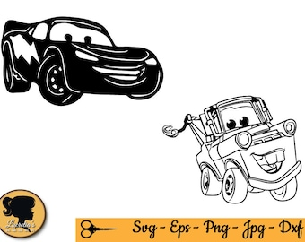 Disney Cars SVG, Lightning McQueen svg,  Silhouettes  for Silhouette Cameo or Cricut, vector, .svg, dxf eps