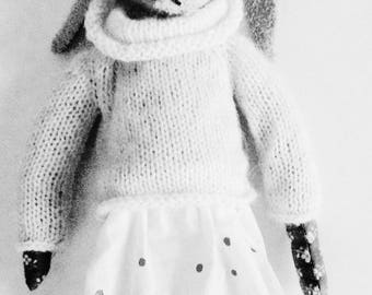 Romy rabbit vintage pullover mohair and silk arms