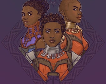 Wakanda Women Small Print (Item 03-422-AA)