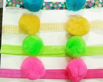 Summer PomPom headbands
