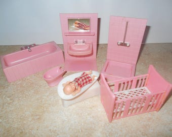 Vintage West German Doll House Furniture