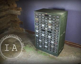 Vintage Industrial Addressograph Catalogue File Cabinet Storage by Hamilton