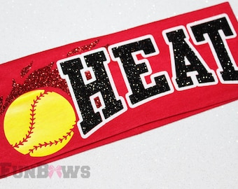 Awesome Custom Softball, Cheer, team sport Headband by FunBows !
