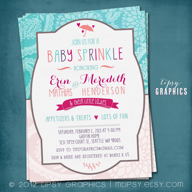 Paisley Mum. Teal Coral Purple Hot Pink. Baby / Bridal Shower