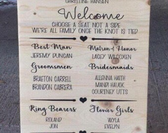 Wedding Program Alternative, Wedding Programs, Wedding Program Sign, Wood Wedding Program, Wedding Sign