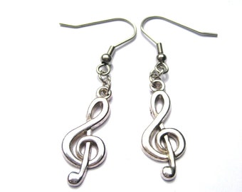 Treble Clef Earrings Music Note Earrings Treble Clef  Jewelry   Music Lovers Earrings Music Earrings Music Note Jewelry