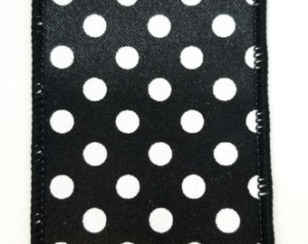 "2.5"" Black White Mini Polka Dot Ribbon  (10 Yards)"