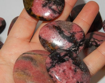 Rhodonite flat palm