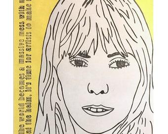 Joni Mitchell on paper