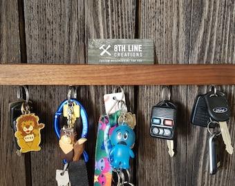 Magnetic Key Holder , Wall Mounted Key Holder, Key Rack, Key Holder, Walnut, Wall Decor, Home Decor