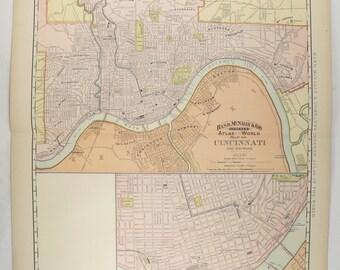 Vintage toledo map Etsy