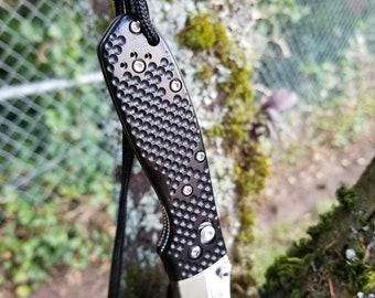 Gripset for Benchmade Mini-Griptilian 7075 Aluminum w/Black Hard Anodizing & Ti Screw/Spacer Set