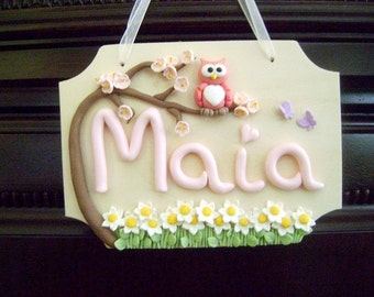 Personalized Kids Door Sign Custom Name Sign Kids Name Wall Hanging Kids Gift Ideas Made To Order Birthday Gift