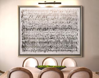 Sheet Music Art : Vintage 1800s Tribute to Music - Sheet Music Art print poster