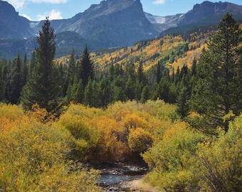 Landscape photography, Colorado photograph, mountain print, fall decor, wall art, fine art photography - A River Runs Through It