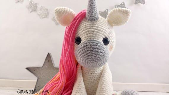 Amigurumi Unicorn : Unicorn crochet pattern crochet unicorn amigurumi unicorn