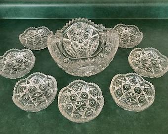 Set of 8 crystal Bowls