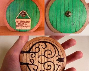 Hobbit Door with No Admittance sign