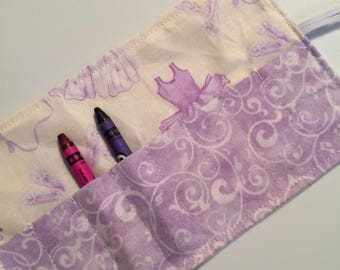 Crayon Roll up ballet outfit purple cream