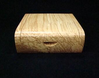 Spalted Maple Desk Box, Keepsake Box, Jewelry Box, Musicians Accessory Box