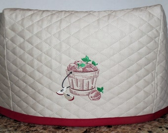 Tan Toaster cover with apple basket