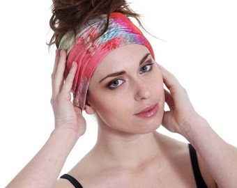 Wide Headband Head Turban, Headpiece Soft Jersey Headband Wide Turban Headpiece Twisted in the Middle, Women's Headband Stocking Stuffer