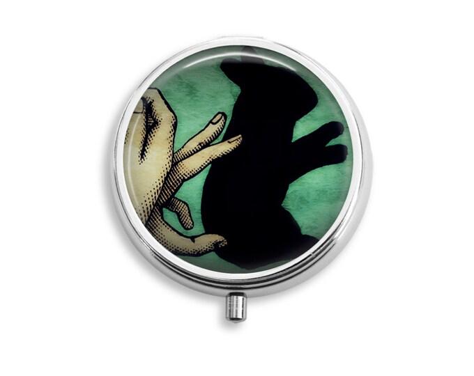 Shadow Rabbit Pill Box Stash Case Silver