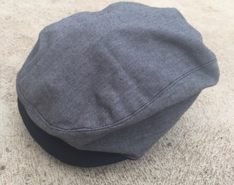 Baby and boys grey and black vintage rockabilly flat cap newsboy hat