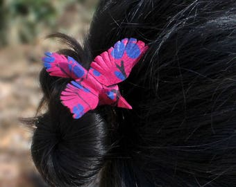 Blue Blossom Bird Hair Accessory