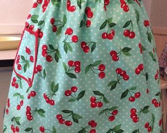 Cherry Apron Retro Cherry Apron, Aqua RetroLand Original Cherry Apron Aqua Retro Housewife