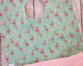 Best Selling Items -Pink Flamingo Bib - 1st Birthday Gift - Tropical Pocket Bibs - Cake Smash Toddler Bib - Towel Bibs - Toddler Girl Bibs